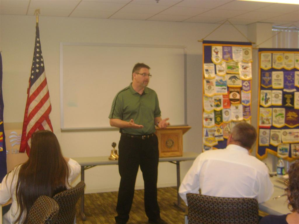 Scott Bedard gives classification talk to Mesa Sunrise Rotary Club
