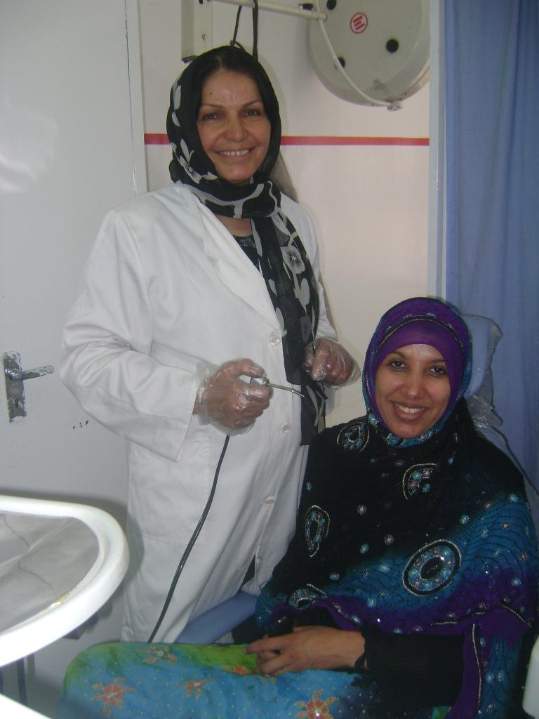 Female dentist and patient at Kabul dental clinic