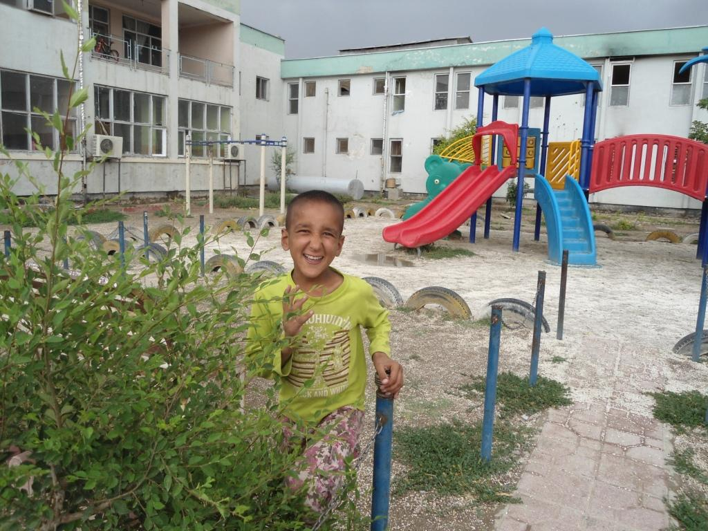 Boy living at orphanage