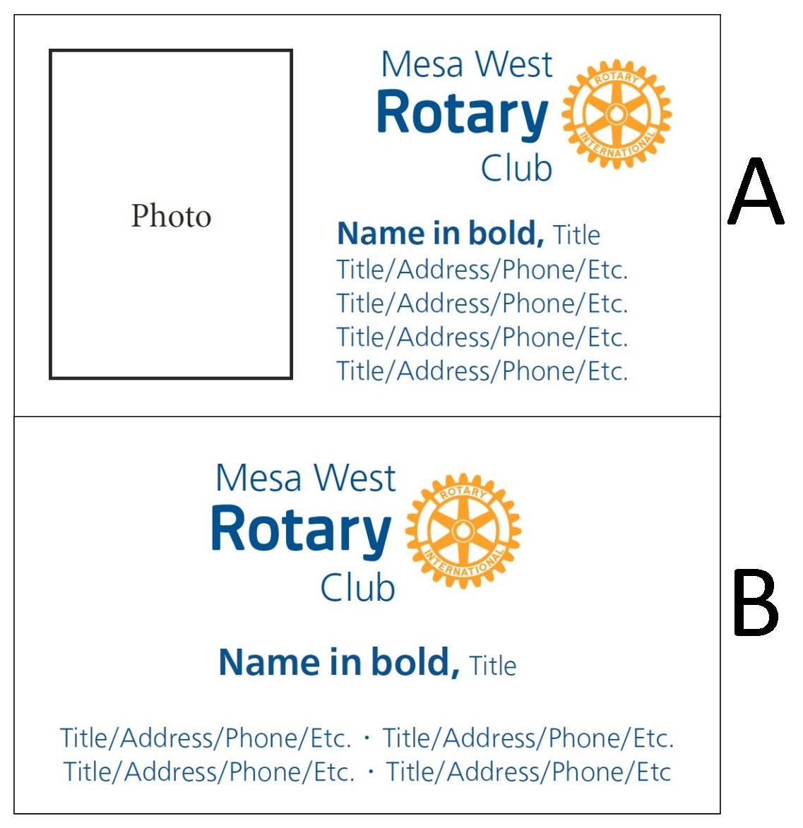 Dan S Has Generously Offered To Print Business Cards For Mesa West Rotary Club Members At The Nominal Cost Of 12 00 Per Box 500