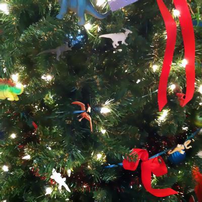 dinosaur holiday tree