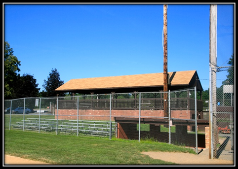 A picnic pavilion at Gardner Field captured the attention of the townspeople in 1968.