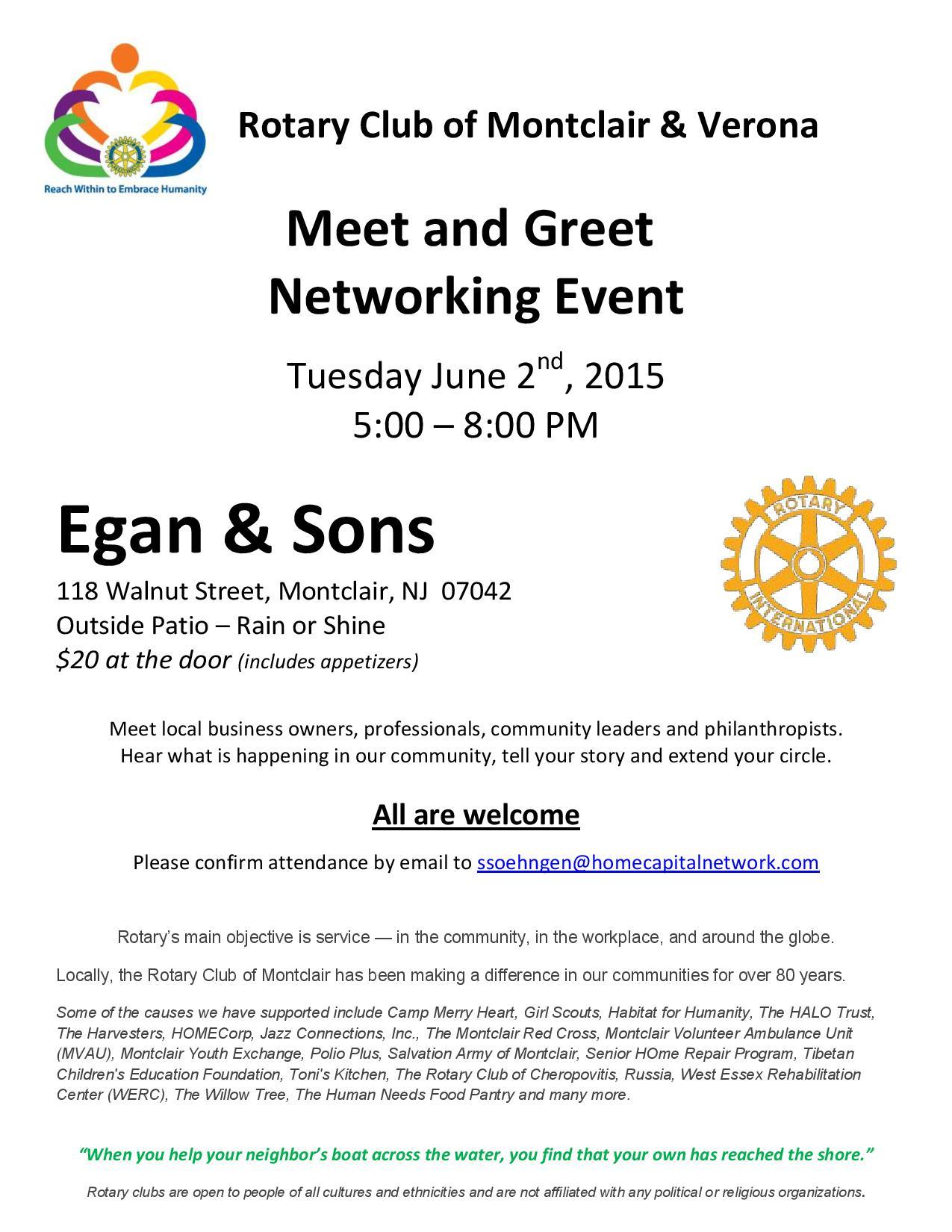 Meet And Greet Montclair Rotary Club