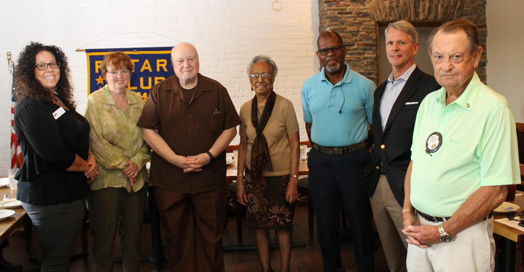 The new and returning Montclair Rotary Club officers are seen with District Governor Shelby Rhodes (far left).  Left to right are Linda Cranston,