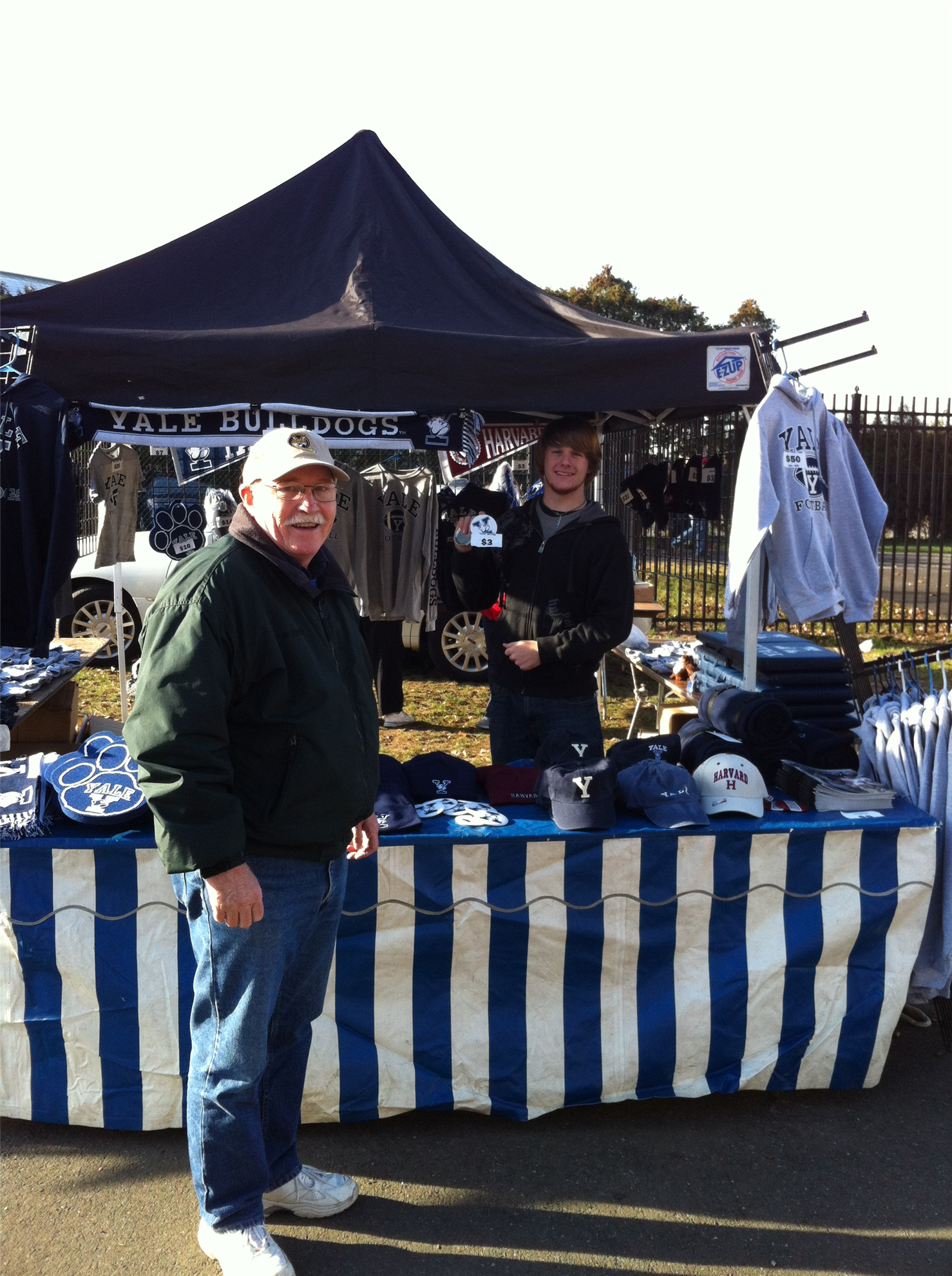 North Haven Rotary selling at Yale Bowl in 2011