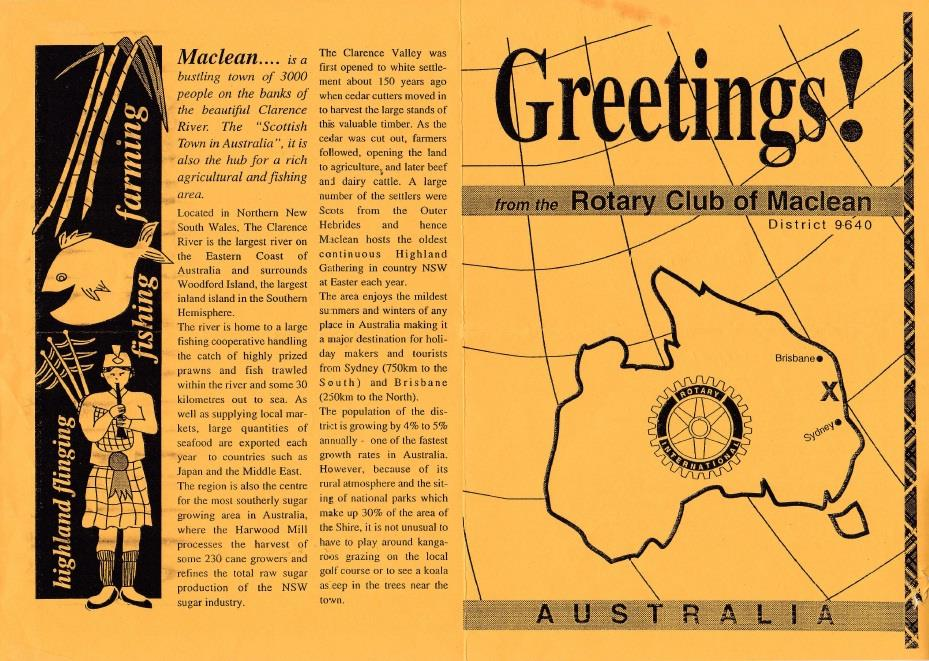 Greetings from australia rotary club of vancouver yaletown today we received a signed greetings card all the way from the rotary club of maclean australia what a wonderful idea it is to send greeting cards to m4hsunfo