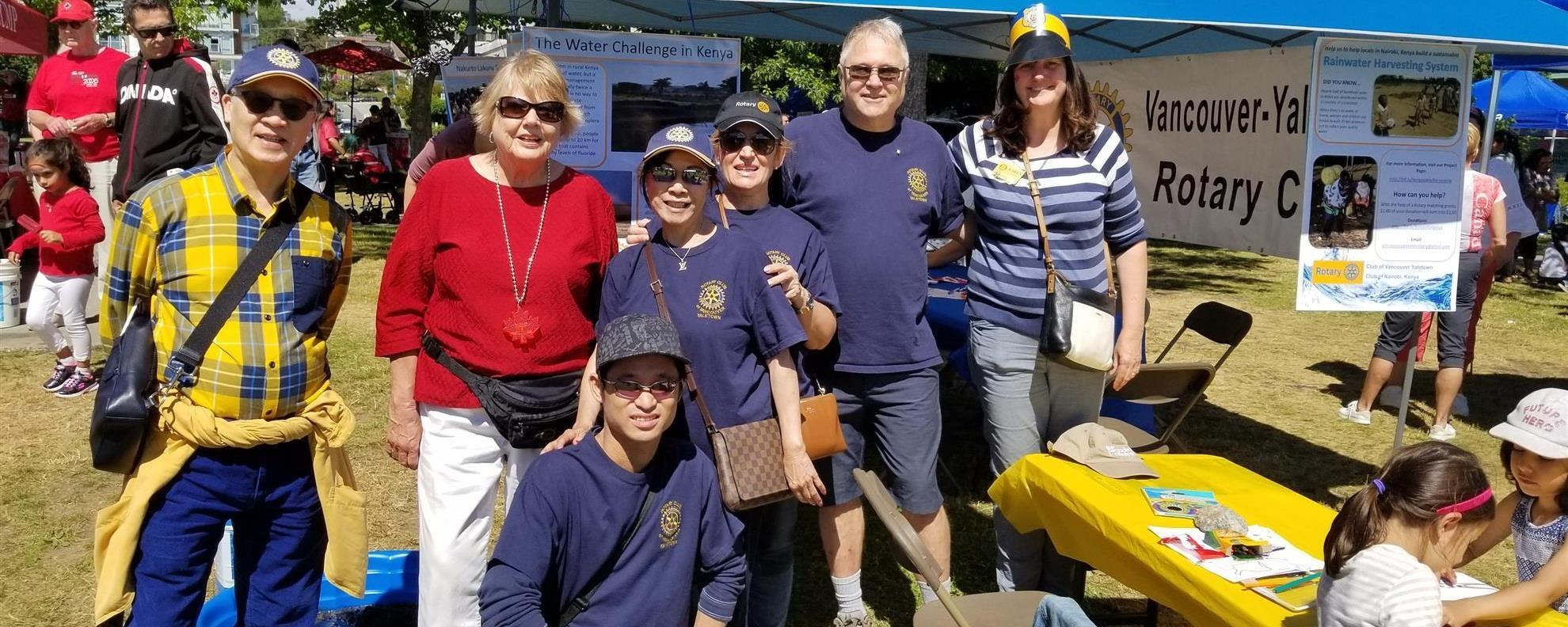 Rotary Booth at Canada Day