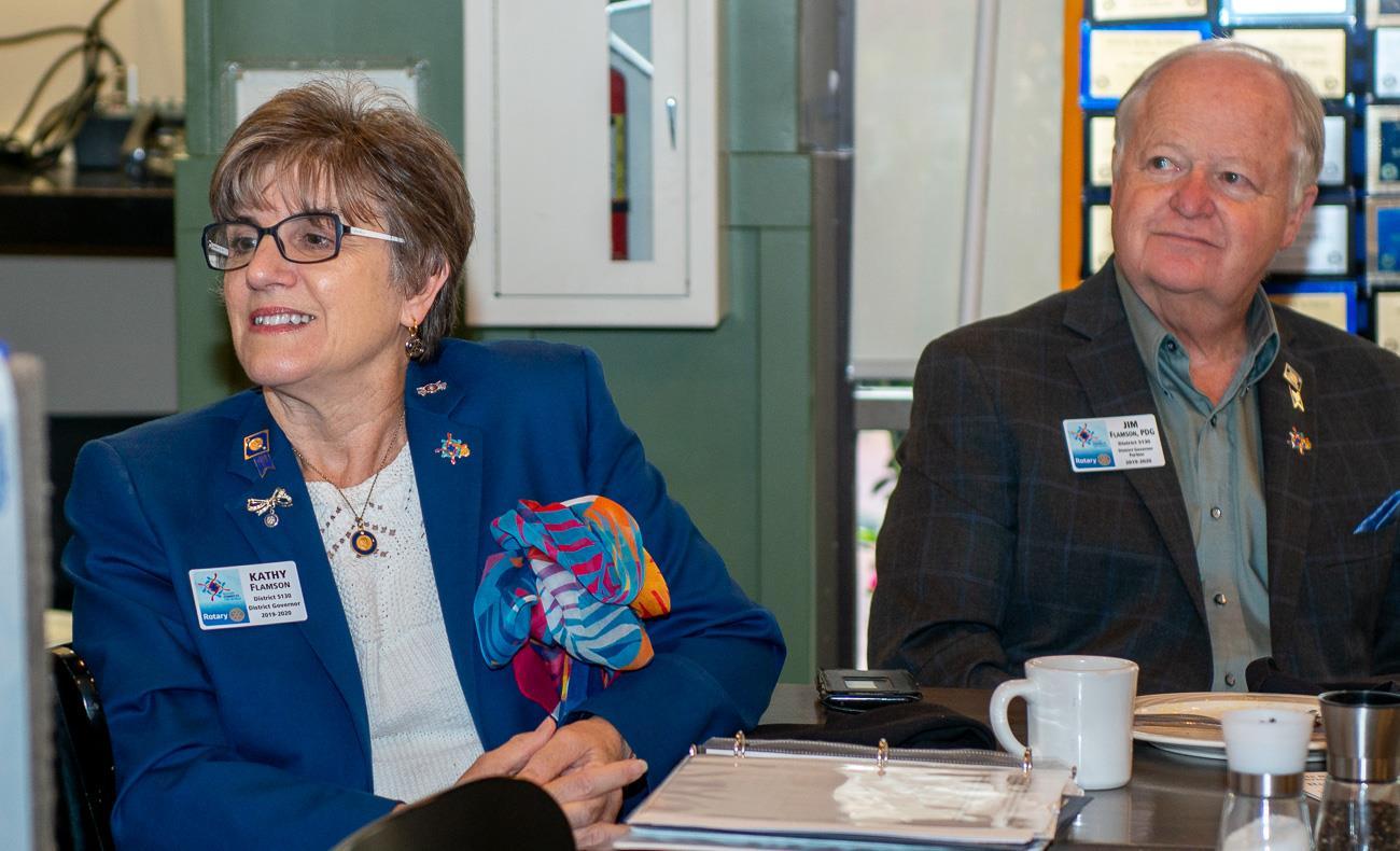 DG Kathy Flamson and Jim Flamson