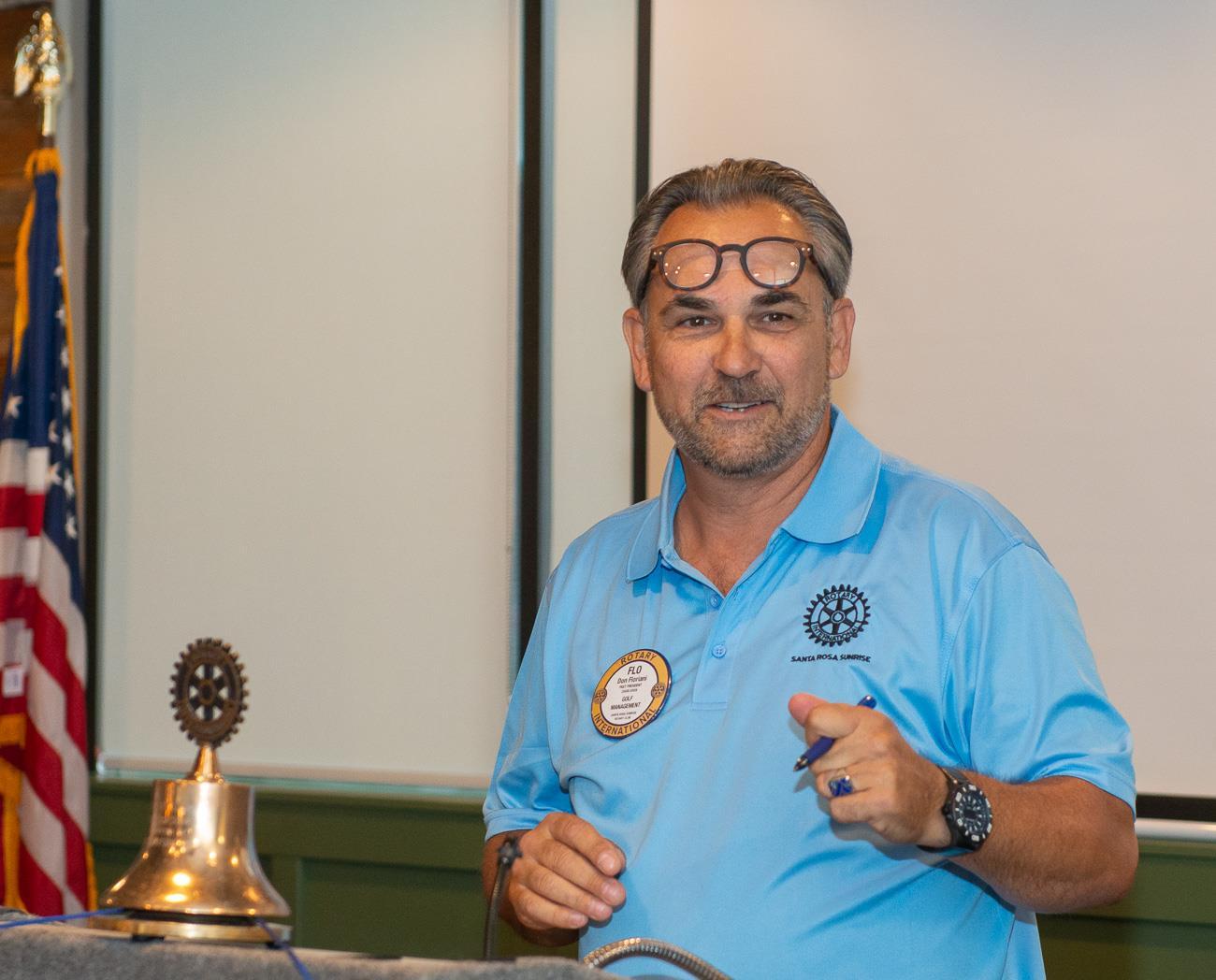 Acting President Don Floriani
