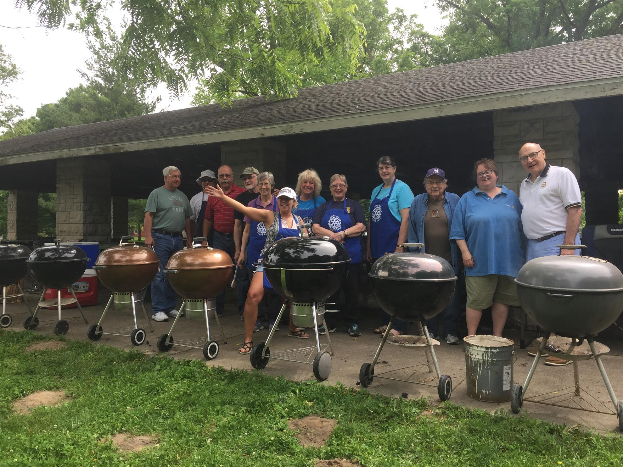Volunteers at 2019 Rotary Grilled Chicken BBQ