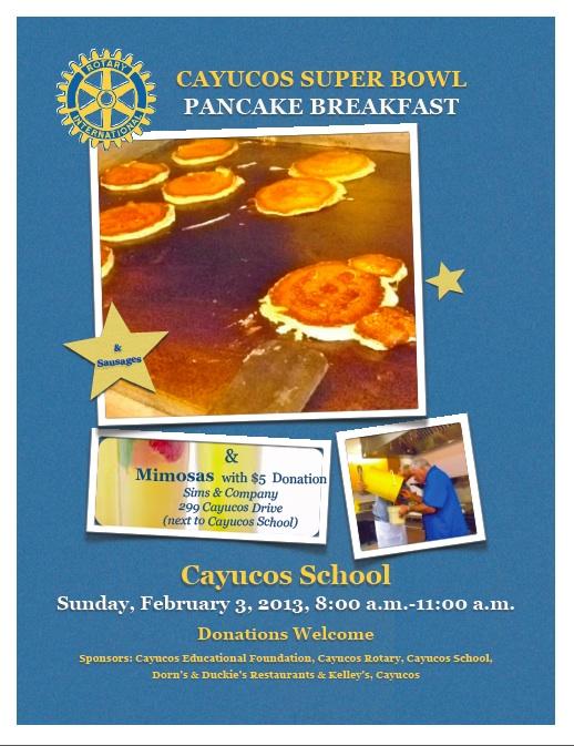 Cayucos Pancake Breakfast