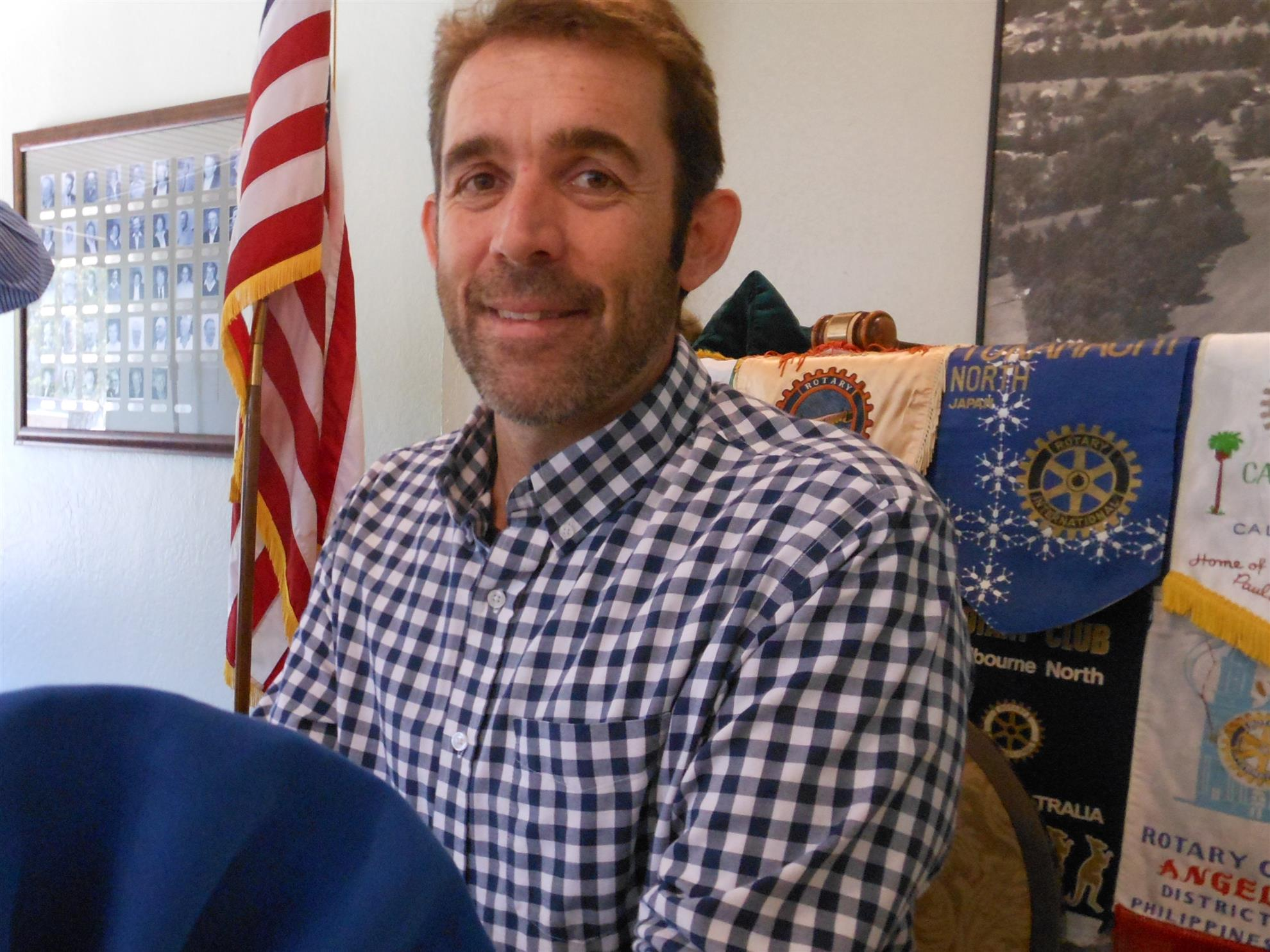 Stories Rotary Club Of Capitola Aptos Andrew Smith Floral Printed Shirt Navy L From Rise Against Hunger Which Is Collaborating To End He A Local Person And Joined In April This Year As Program