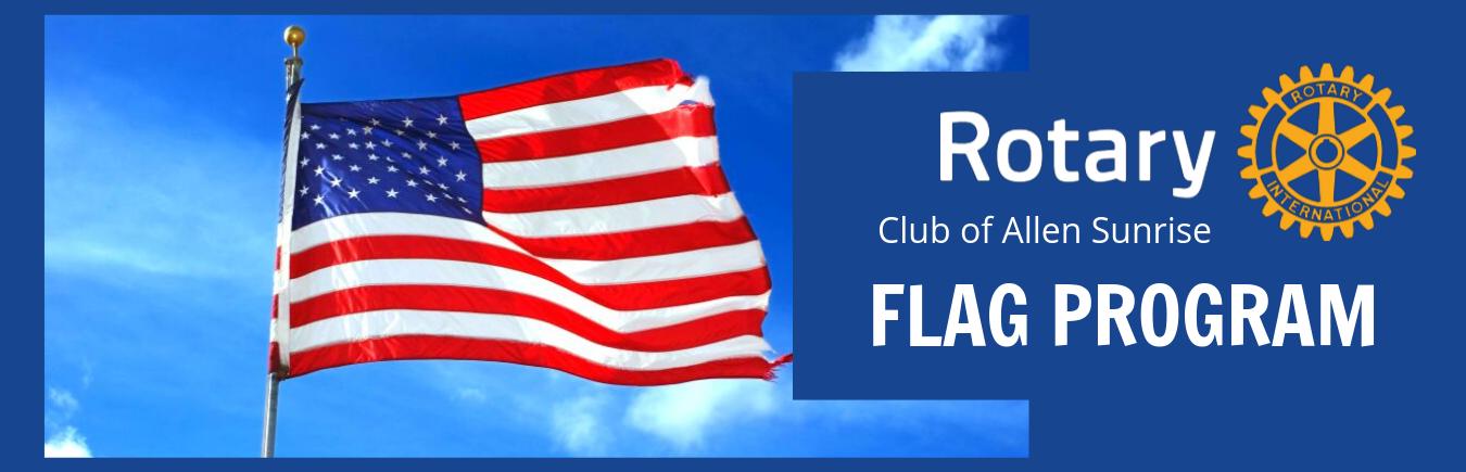 Flag Program | Rotary Club of Allen Sunrise