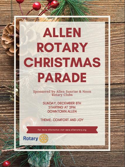 Allen Rotary Christmas Parade 2020 Volunteer Annual Allen Christmas Parade | Rotary Club of Allen Sunrise