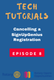 Cancelling a SignUpGenius Registration