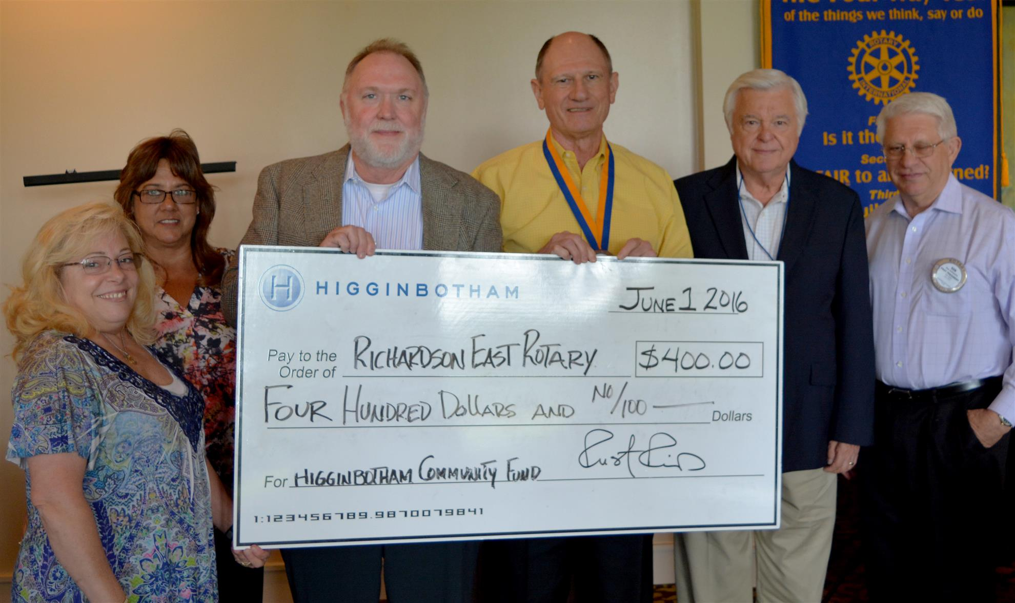Higginbotham Community Fund Representatives