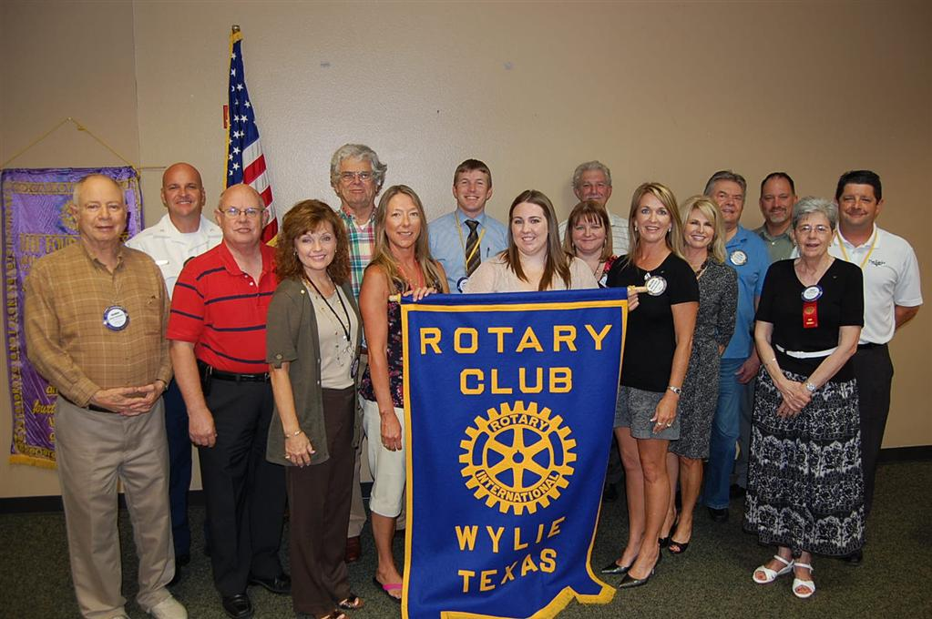Wylie East Fork Rotary Club pictured with Allison Murray our