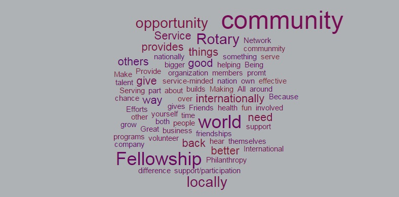 Value of Rotary Word Cloud