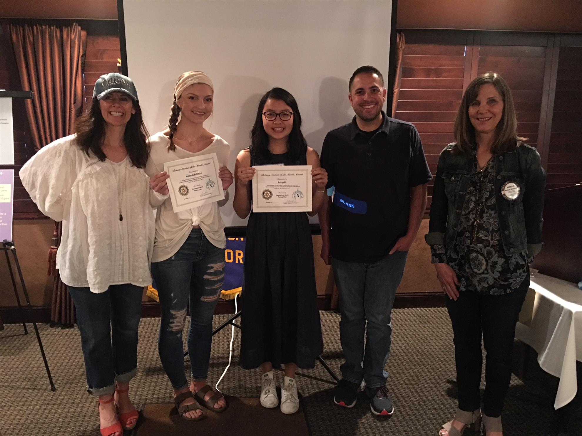 PNR Recognizes Students of the Month | Rotary Club of Pleasanton North