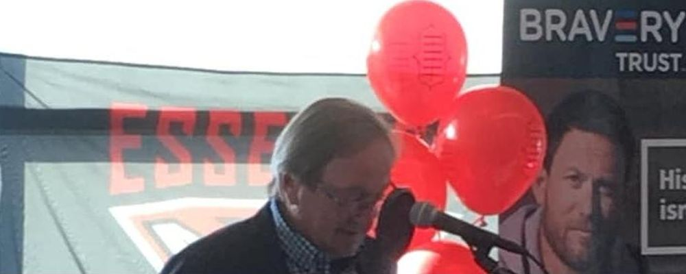 The legendary Kevin Sheedy speaking at the 2018 Footy Breakfast