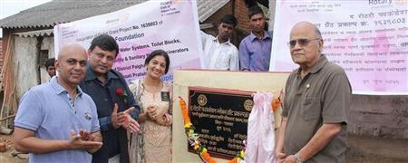 Inauguration of Sanitation Project - Palghar, India, 19-Jun-16