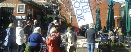 Book Stall at Priscilla Jones Cafe, Gasworks Market