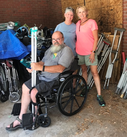 Dave Talbot, Sara Murphy, Marge Mercurio  - Crutches for Africa