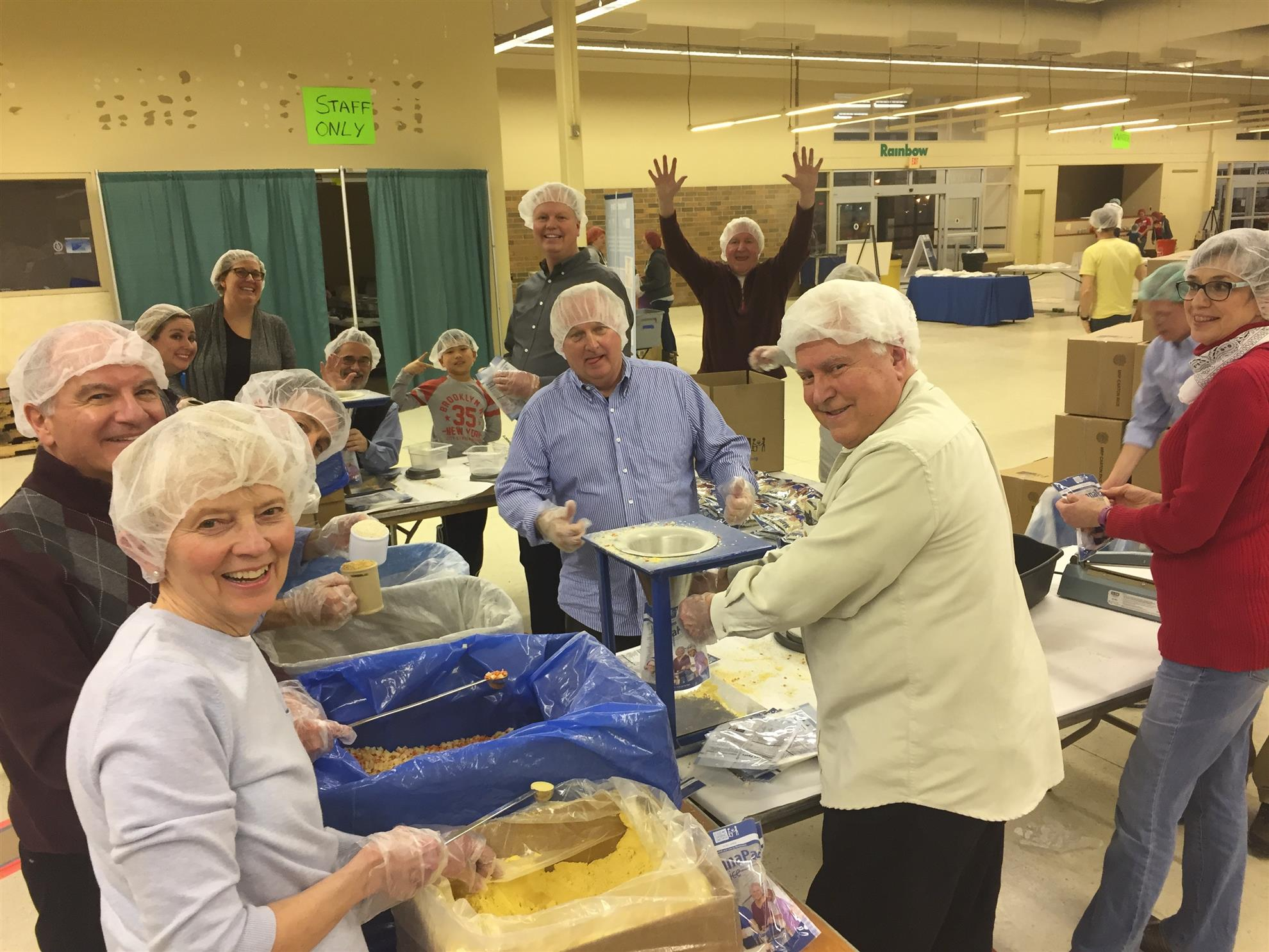 Burnsville Rotary at Feed My Starving Children