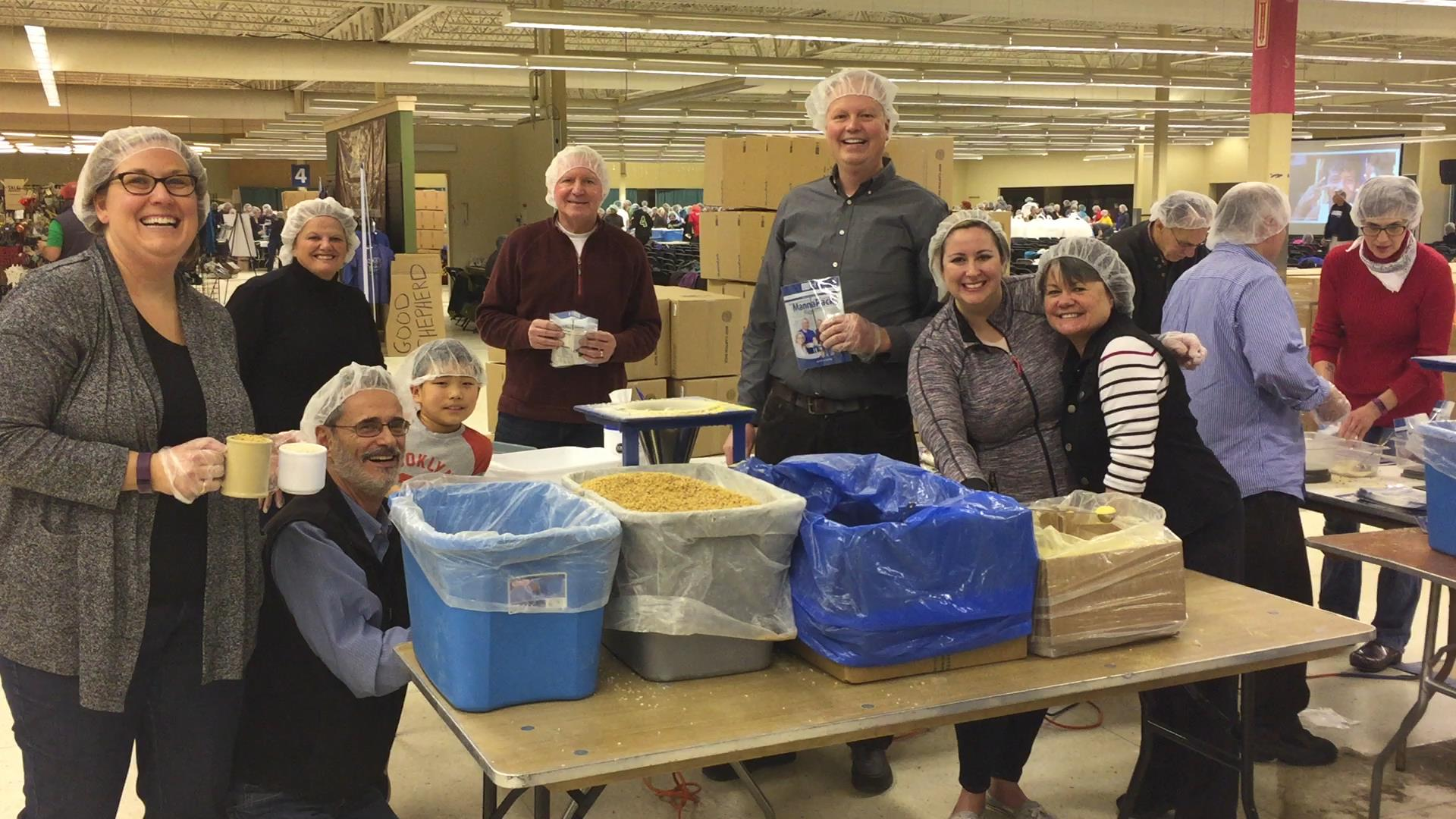 Burnsville Rotarians at Feed My Starving Children
