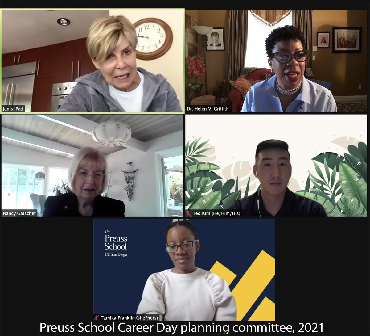 Preuss School Career Day planning committee, 2021