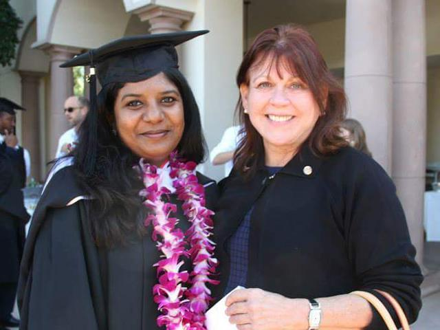 Pakistan graduate, Naumana Suleman, with MA in Peace and Justice. Kroc School Rotary Scholar