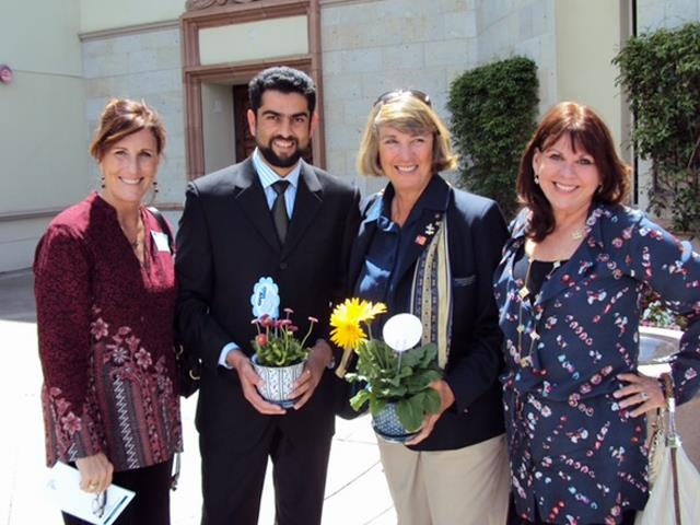 Afghanistan graduate, Ishaq Hassan, with MA in Peace and Justice. Hosted by Kathleen and David Tansey