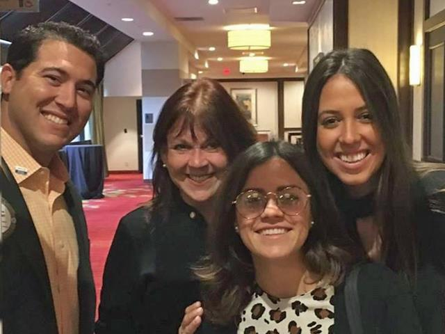 Grillo-Marxuach Family, Rotary Foundation Scholars Paloma W. Kochan (Brazil) and Valentina R. Munoz (Puerto Rico)