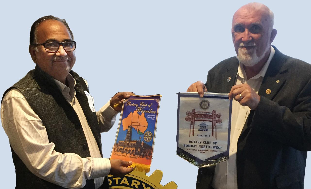 Exchanging club banners