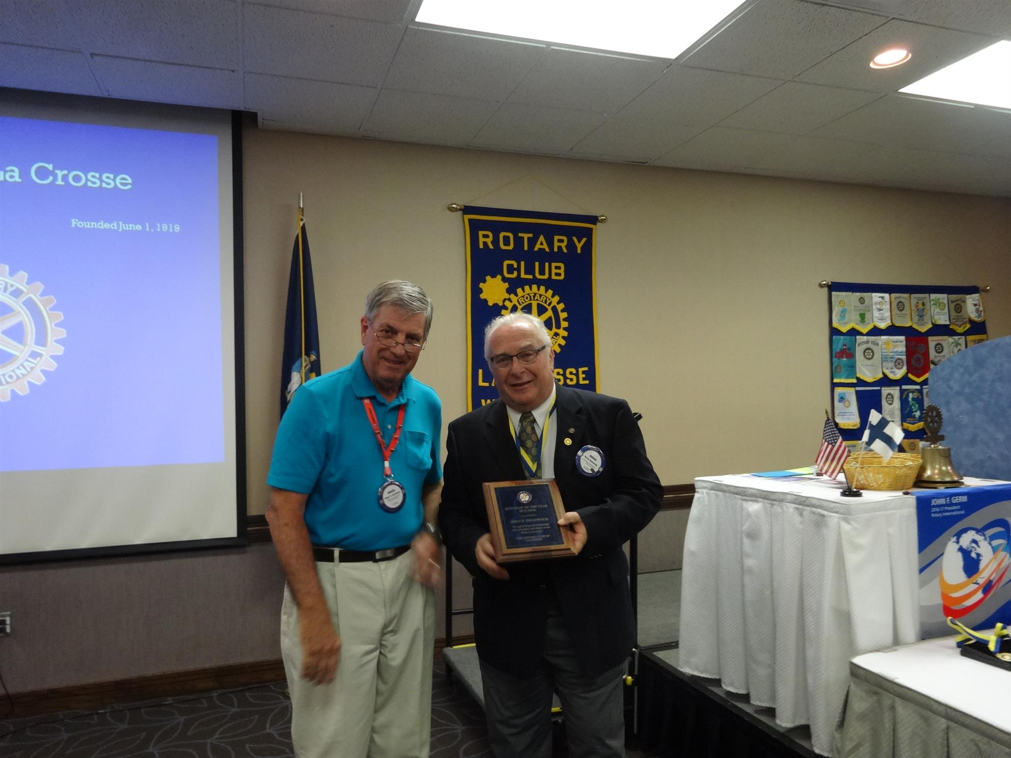 Changing of the Guard July 2016 | Rotary Club of LaCrosse
