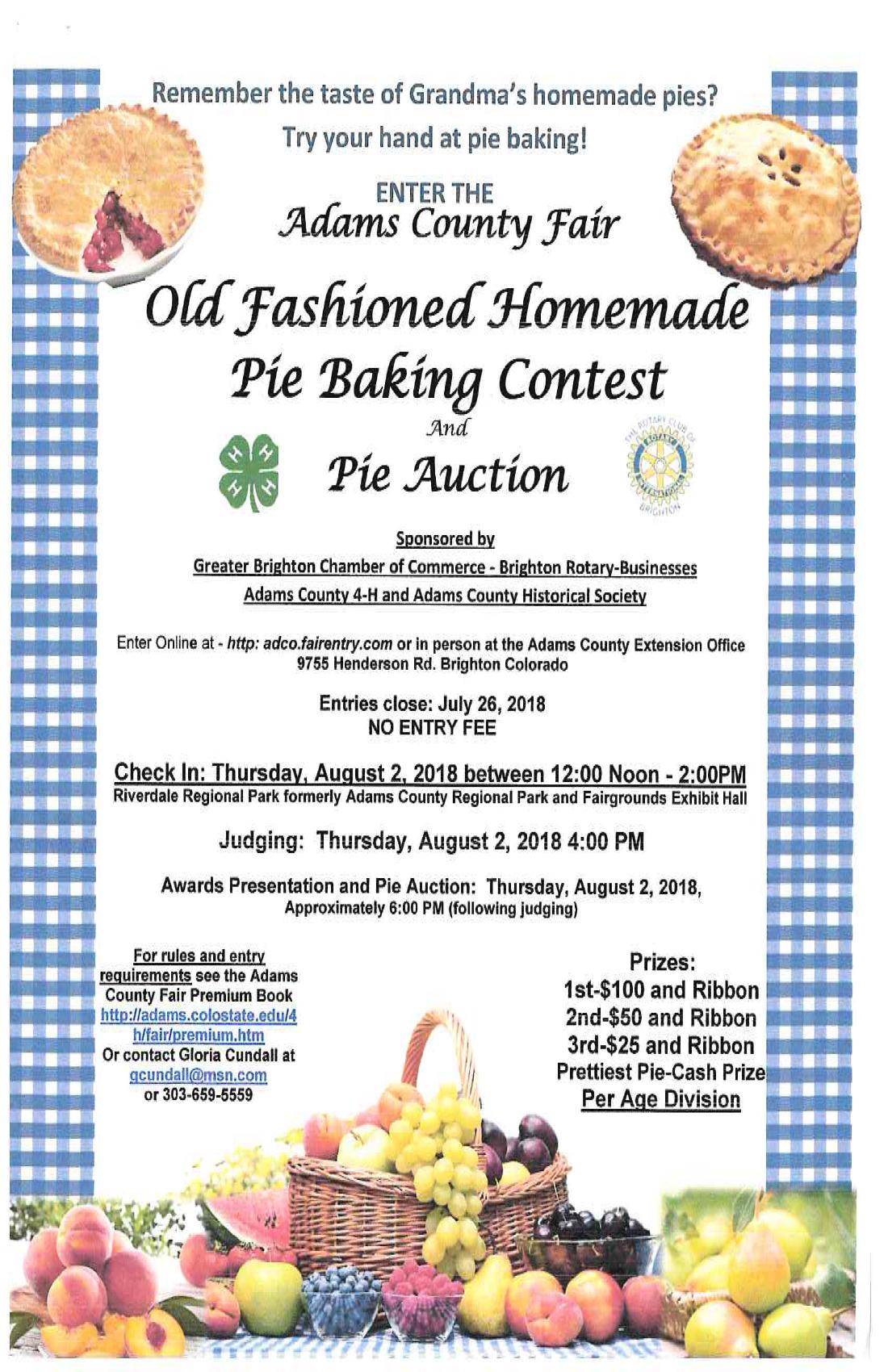 Homemade Pie Baking Contest | Rotary Club of Brighton