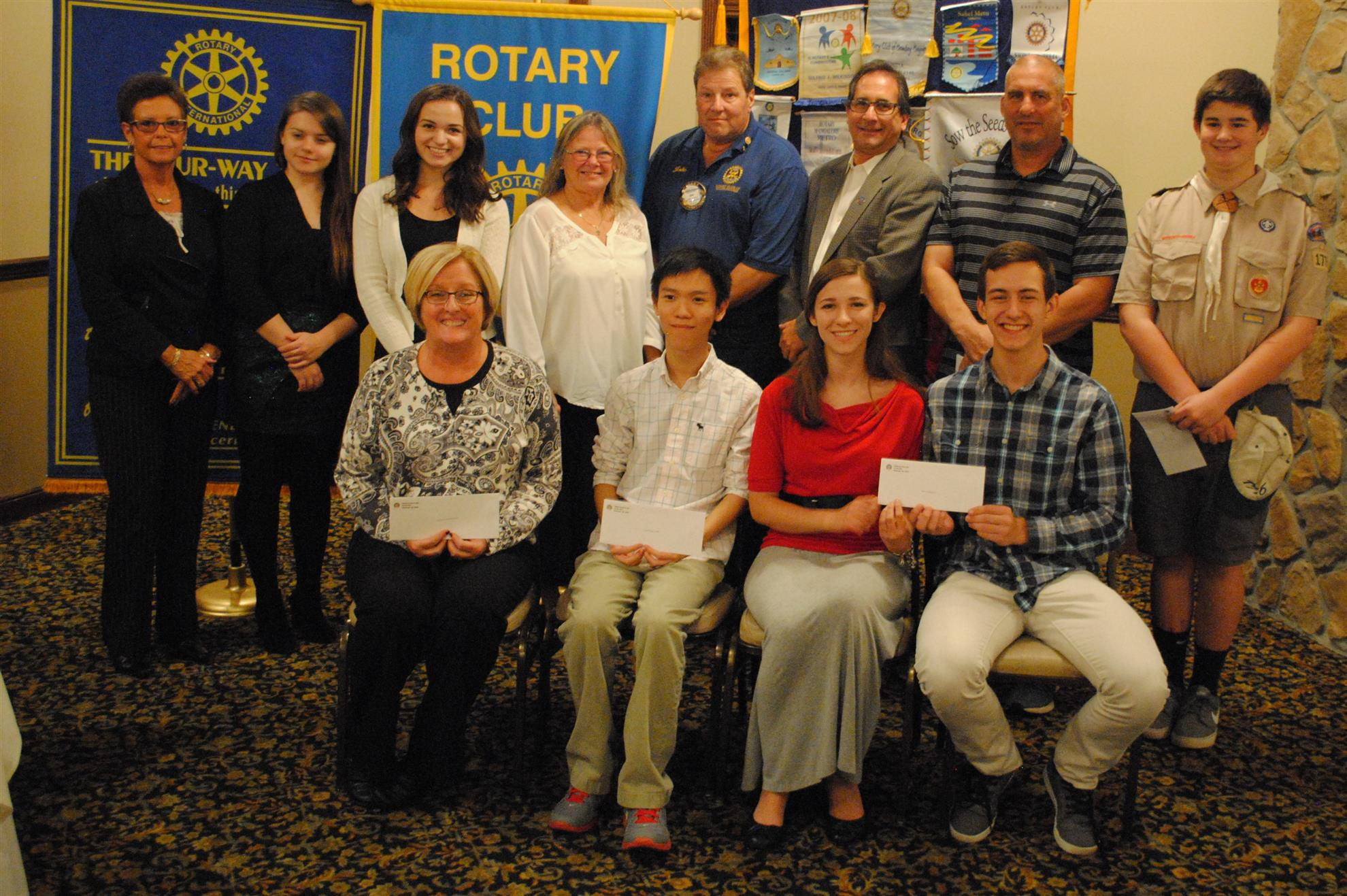 stories rotary club of hillsborough back l r tracie zebro val paratsa alexis weaver mary ann hirsch president john shockley michael cohen coach rich resi jake r o at