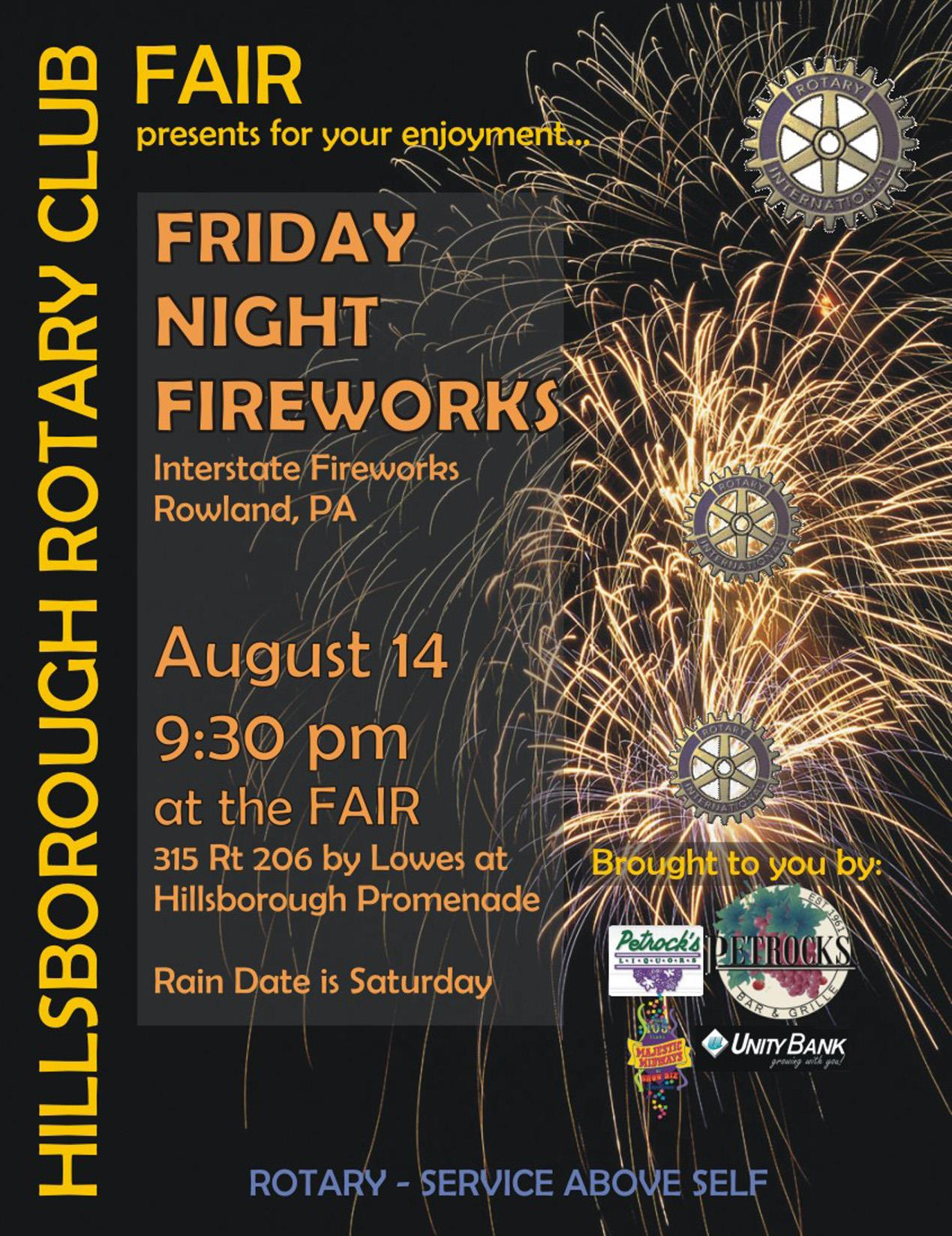 2015 Hillsboorugh Rotary Fair Fireworks Poster | Rotary Club of ...
