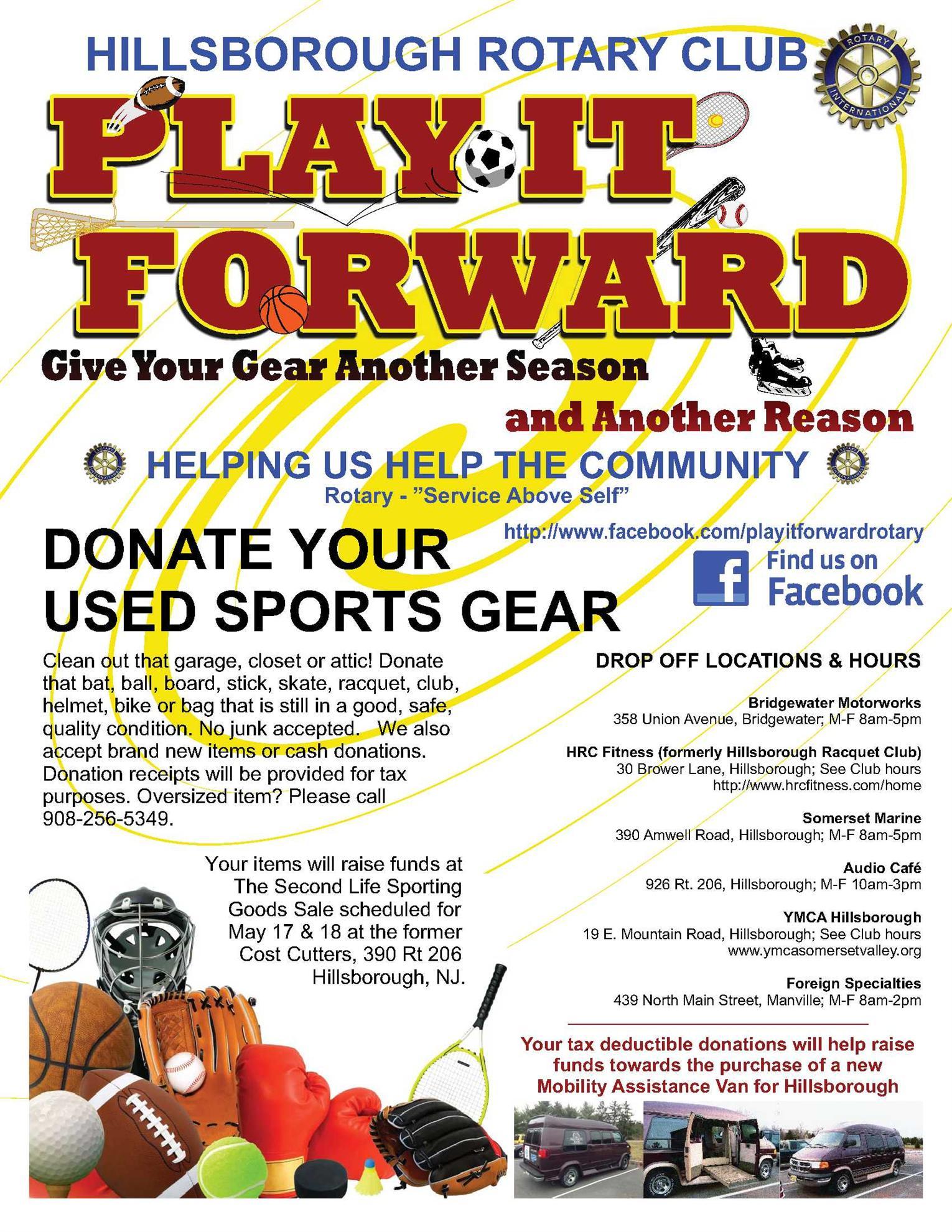 2014 play it forward sporting gear
