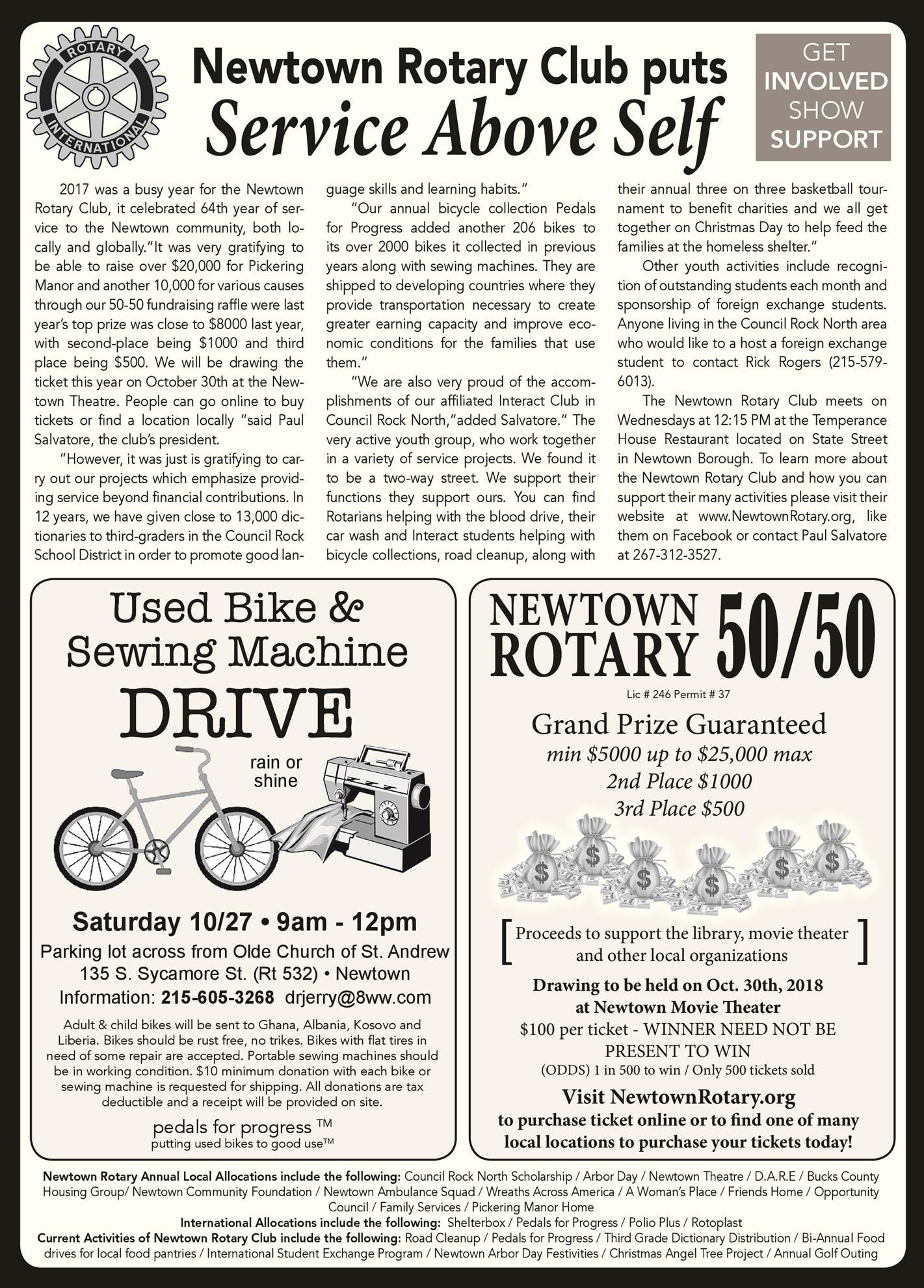 Should We Take Up Collection To Buy >> 50 50 Drawing And Bike Collection Coming Up Rotary Club Of Newtown