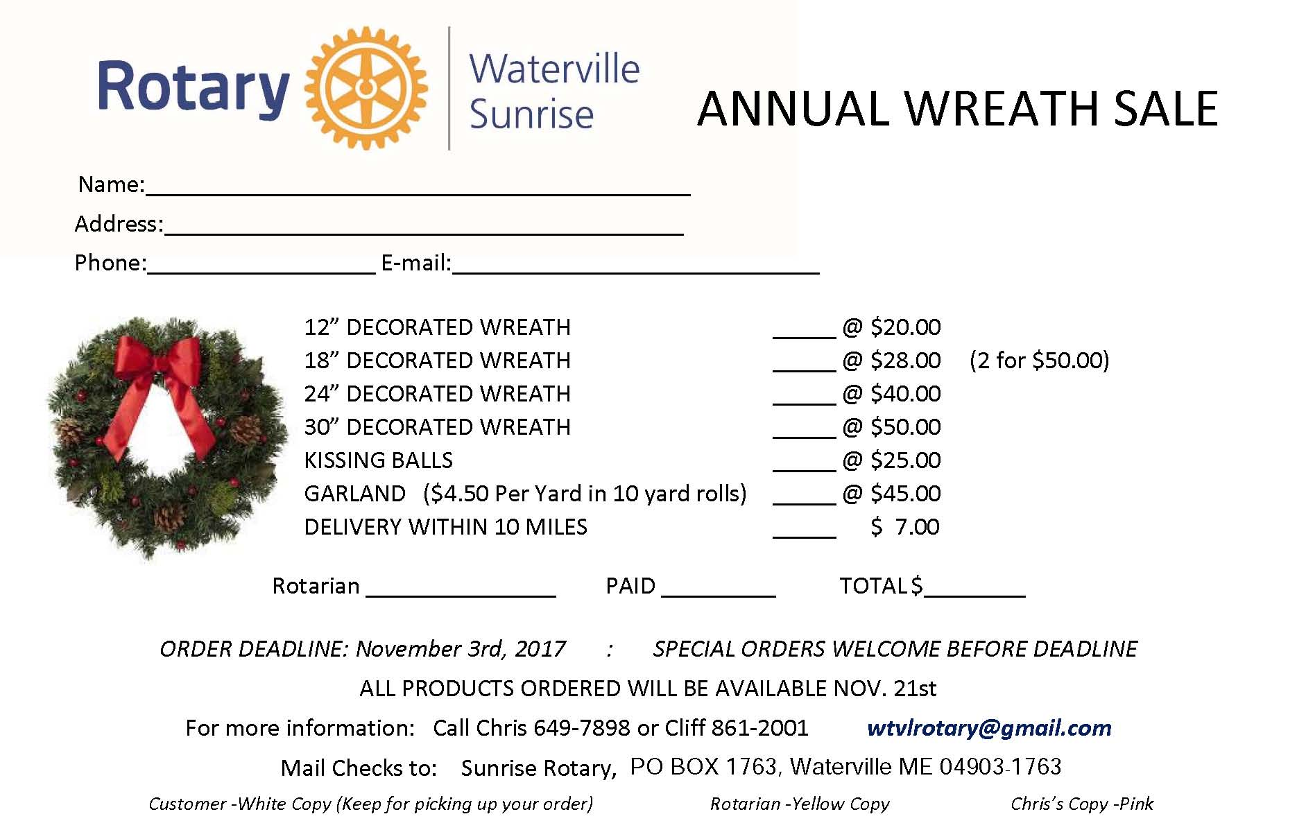 Wreath Order Form | Rotary Club of Waterville Sunrise on gift order form, candle order form, jewelry order form, book order form, easter order form, owl order form, pumpkin order form, garden order form, white order form, fabric order form, cookies order form, door order form, party order form, turkey order form, spring order form, bag order form, diy order form, pillow order form, craft order form, rose order form,