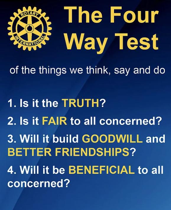 Rotary Four Way Test