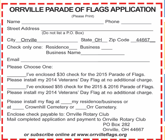 Rotary Parade Of Flags Expand Into Downtown Orrville