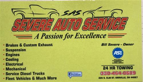 Severe Auto Service