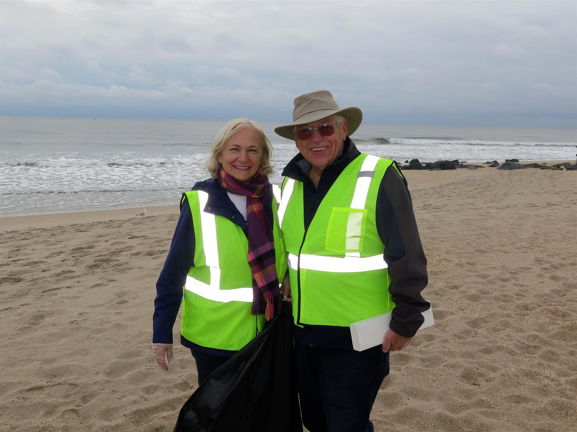 2bc03e7016 Rotary Club of Greater Long Branch members helping Clean Ocean Action at  Beach Sweeps
