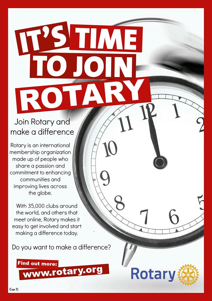 Image result for it is time to join rotary
