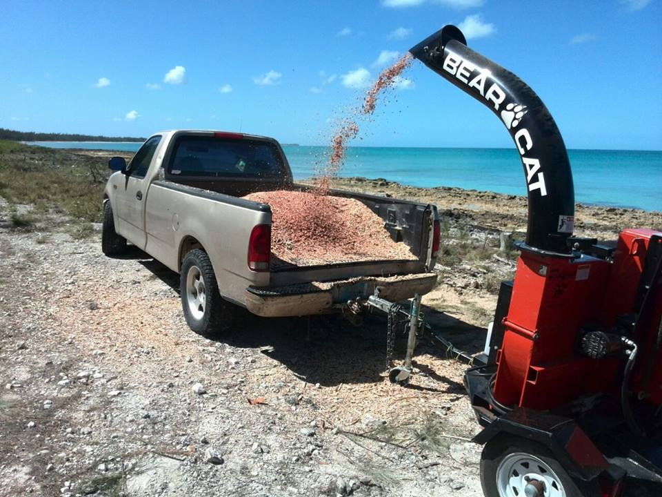 Mulching for 'Mergency' Project | Rotary Club of Eleuthera