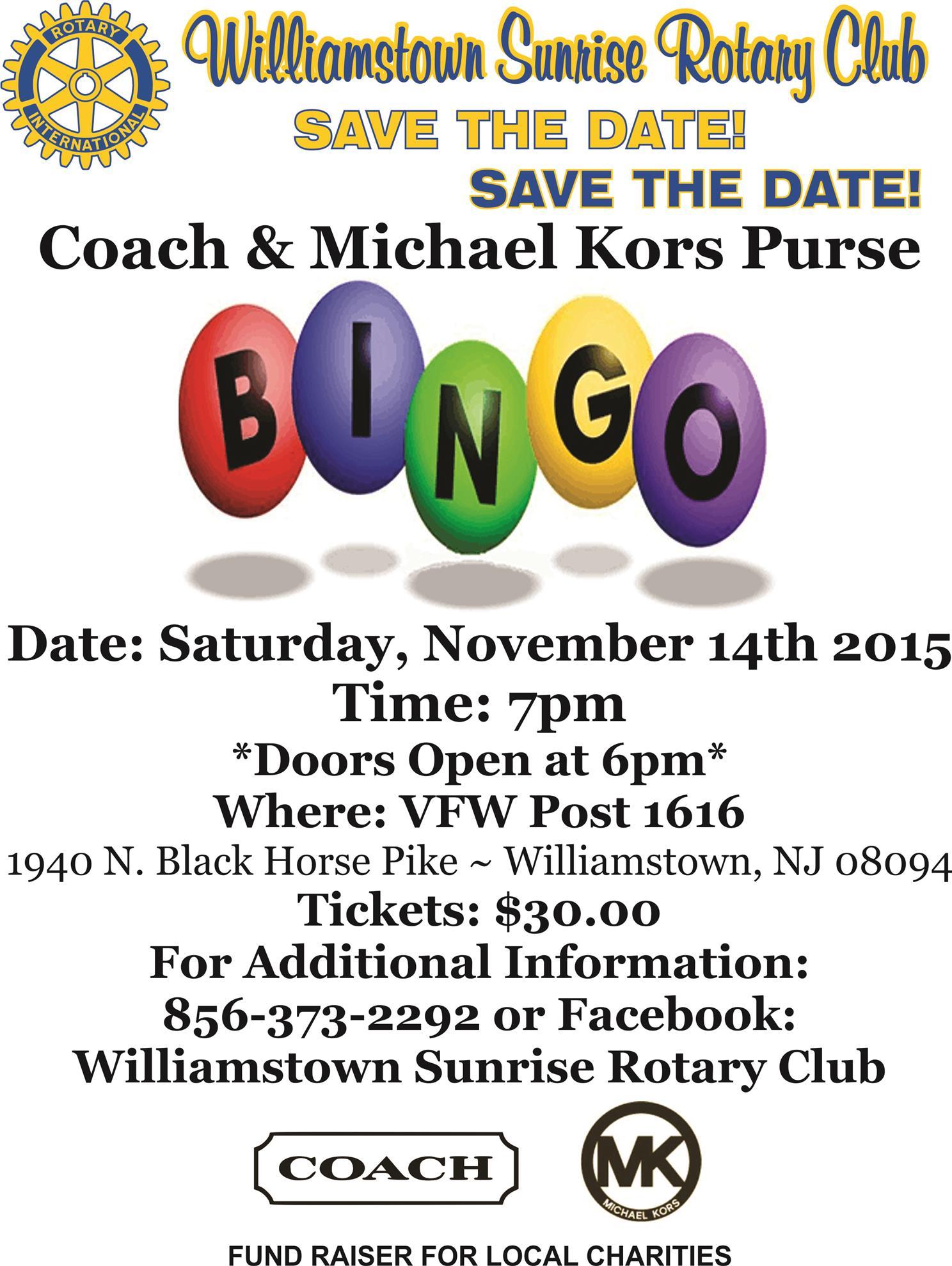Coach & Michael Kors Bingo