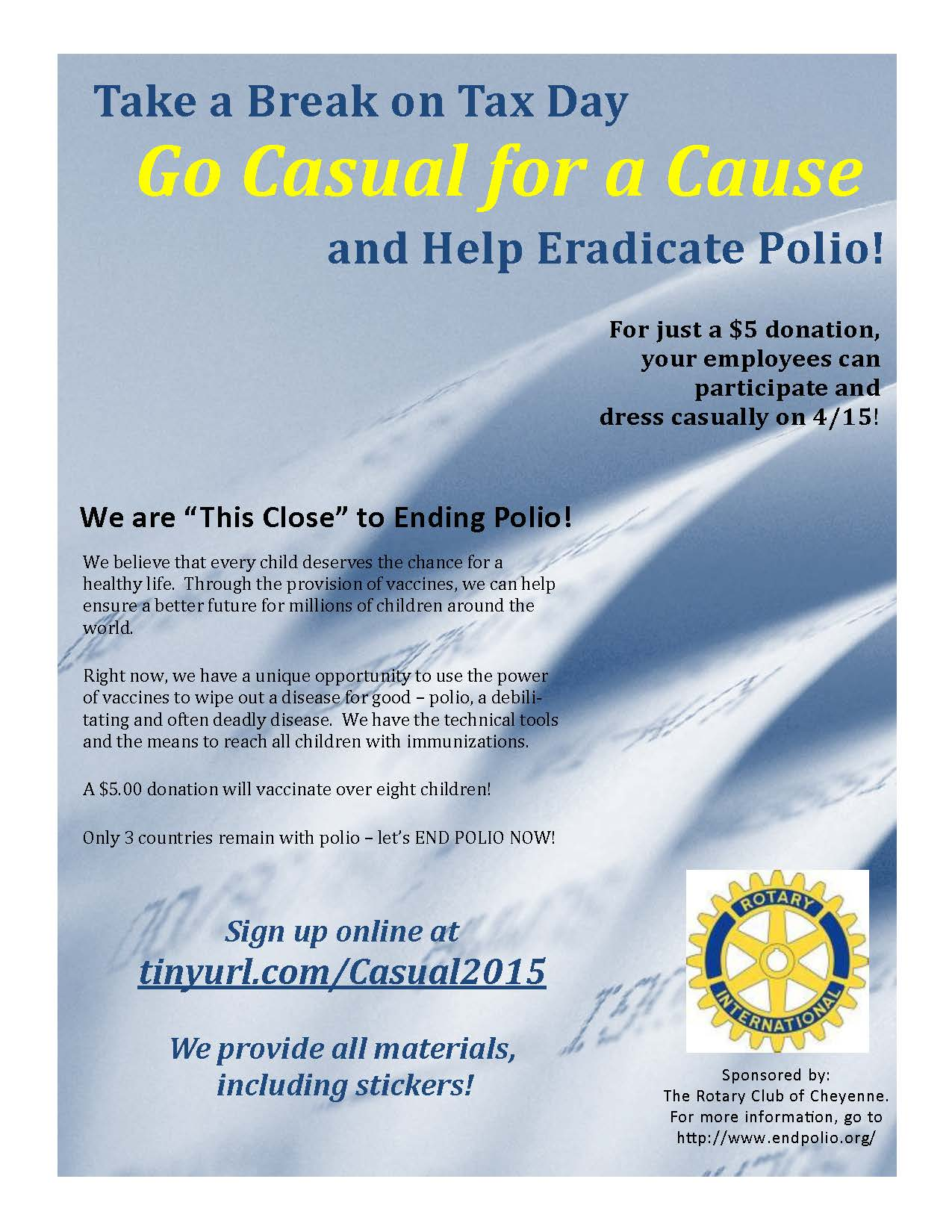 2015 Casual For A Cause