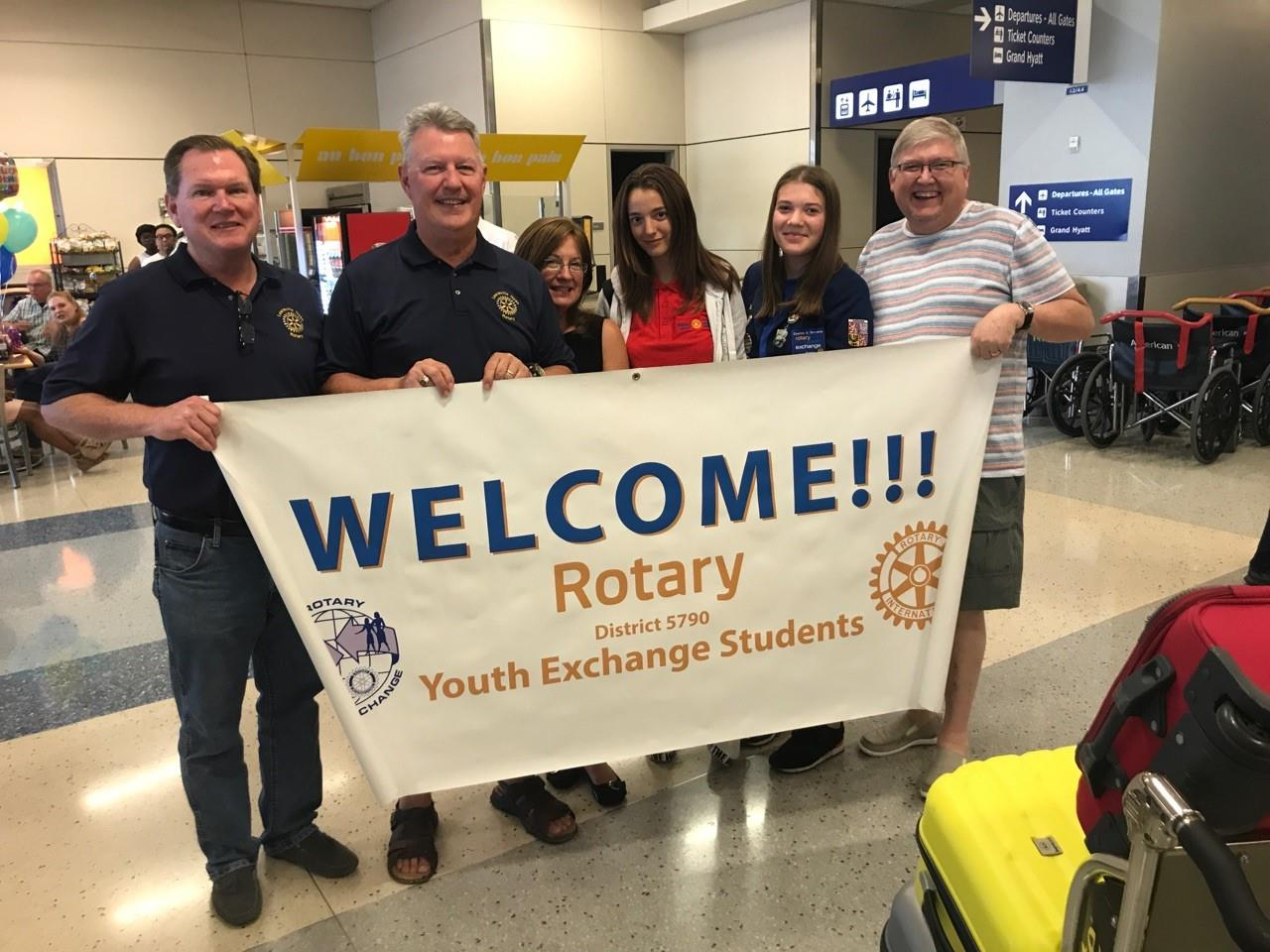 Lewisville Rotary and District 5790 Welcome Youth Exchange Student